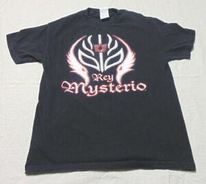 Vintage 2002 Rey Mysterio Mask Art Double Sided T-Shirt Size Large