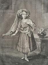 FILLE DE CHIO ISLE ARCHIPEL , GRAVURE ORIGINALE DE 1714, FERRIOL TURQUIE