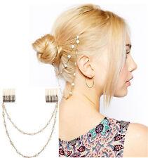 Rhinestone Flower Head Chain Jewelry Headband Head Piece Hair Pin