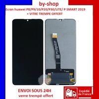 VITRE TACTILE + ECRAN LCD POUR HUAWEI P8/P9/P10/P20/P30+ VITRE TREMPE