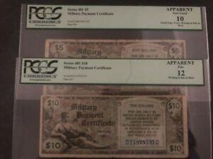 2 MPC SERIES 481 $5 AND $10 CIRCULATED
