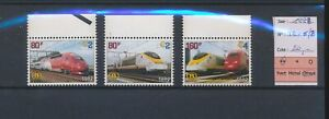 LN67763 Belgium 1998 railways high speed trains edges MNH cv 20 EUR