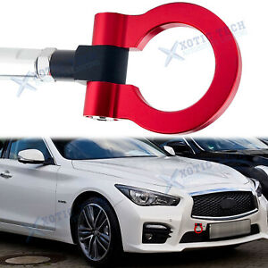 Front Track Racing CNC Aluminum Red Tow Hook JDM for Nissan GTR Infiniti Q50 Q60