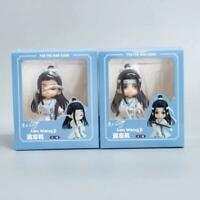 2pcs Anime Mo Dao Zu Shi Lan Wangji Figure Model Toy Car Decor Gift Suit