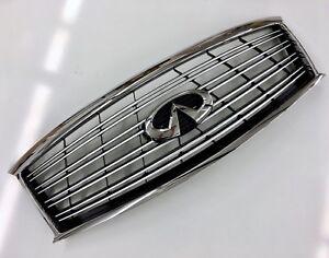 Infiniti M37 M56 Non Sport Chrome Grille & Emblem 2011-2013 New OEM