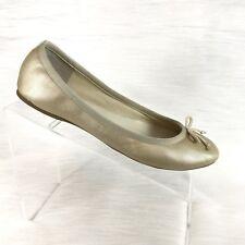 J Crew Women's Ballet Flats Gold Leather size 8.5