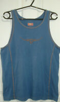R.M. WILLIAMS MENS SZ XL BLUE SINGLET TANK TOP WITH EMROIDERED LOGO FREE POST