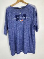 Toronto Blue Jays MLB Men's XL Majestic Graphic Blue Crew Neck Shirt Reid-Foley