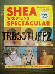 SHEA STADIUM WRESTLING PROGRAM 8-9-80 BRUNOvZBYSZKO! ANDREvHULK! INOKI FUJINAMI!