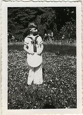 PHOTO ANCIENNE - VINTAGE SNAPSHOT - ENFANT COSTUME MODE MARIN - FASHION SAILOR