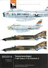 Dutch Decals 1/32 SOESTERBERG EAGLES U.S.A.F. F-86F SABRE & F-4E PHANTOM II