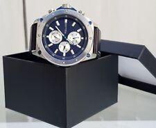 Genuine POLICE Designer Mens Watch Day & Date Black &Blue RRP£250 (PO89