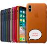 iPhone X 5,8'' Apple Echt Original Leder Schutz Hülle Case Cover - 8 Farbe
