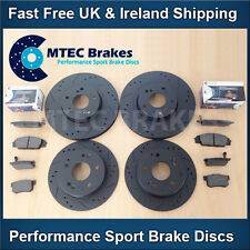 MINI COOPER R52 1.6 1.4D Front Rear Black DrilledGrooved Brake Discs MTEC Pads