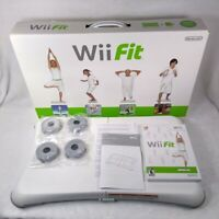 Wii Fit (Nintendo, 2007) with Balance Board Included Complete in Box CIB TESTED