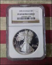 1995-W Proof Silver American Eagle Pf-69 Ngc Ultra Cameo Scarce! - Bino