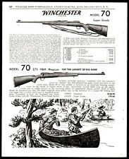 1970 WINCHESTER Model 70 Super Grade and .375 H&H Magnum Rifle AD Moose Hunting