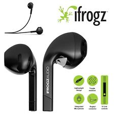 iFrogz Intone Stereo Headphones Earphones Mic Earbuds For iPhone Samsung Black