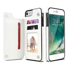 For iPhone Samsung Wallet Case Back Credit Card Slot Magnetic Slim Leather Cover