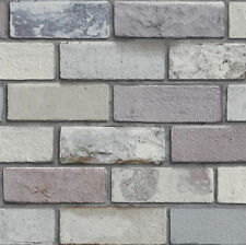 ARTHOUSE REALISTIC INDUSTRIAL BRICK STONE BRICK WALL FEATURE WALLPAPER 698800