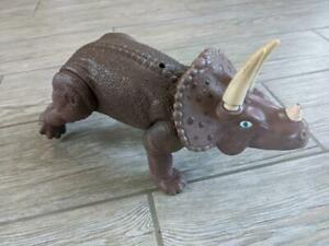 1987 vintage PLAYSCHOOL DEFINITELY DINOSAURS plastic toy TRICERATOPS  large size