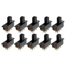 10 Pcs 6 Pins 2 Positions DPDT On/On Mini Slide Switch DT