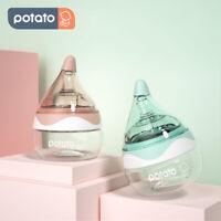 POTATO Newborn Baby Bottle Breast Milk Bottle Slow Flow Breastfeeding Mini 80ml