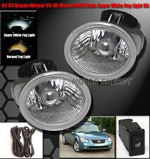 BUMPER CHROME FOG LIGHTS LAMP LEFT+RIGHT FOR 02-04 ALTIMA/03-05 MURANO/FX35 FX45