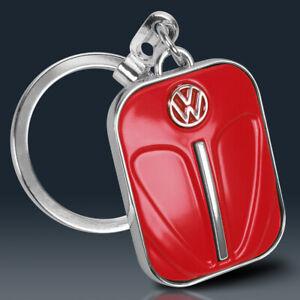 VW Käfer Schlüsselanhänger | ROT Metall | Volkswagen Lizenzware | Retro Beetle