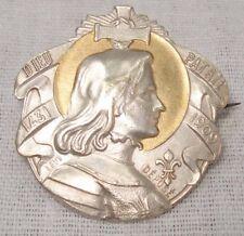 médaille ancienne Jeanne d'Arc Dieu & Patrie Métal argenté
