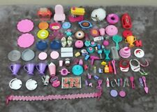 Barbie and Other Doll Accessories Lot 101 Pieces Food Baywatch Mixer Dishes