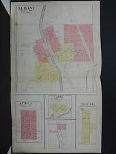 Wisconsin Green County Map 1918 Double Page! City of Albany L21#97