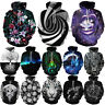 Women/Men 3D Whirl Hypnosis Print Galaxy Hoodie Sweatshirt  Pullover Jacket Coat