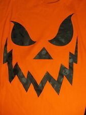 XL orange HALLOWEEN JACK O LANTERN SCARY t-shirt by GILDAN