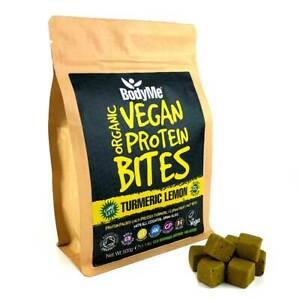 BodyMe Organic Vegan Protein Bites   Raw Turmeric Lemon   500g   100 Bites