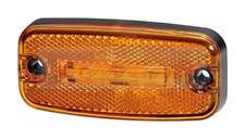 HELLA 2PS345600017 LED AMBER YELLOW SIDE MARKER LIGHT LAMP 24V VOLT W/ REFLECTOR