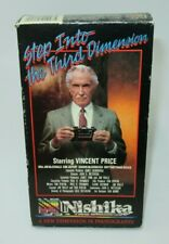 STEP INTO THE THIRD DIMENSION VHS VIDEO MOVIE, VINCENT PRICE, NISHIKA 3-D PHOTO