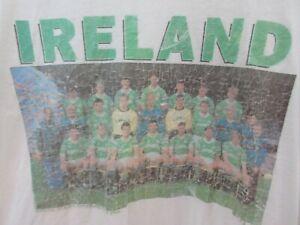 Ireland Football Team 1990 Photo Mens T Shirt Size L Crew Neck Vintage Rare