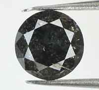 Natural Loose Diamond Black Grey Color Round I3 Clarity 4.30 MM 0.32 Ct N8719