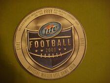 Beer Coaster     Miller Light    Football 2008    World Beer Cup GOLD  '96-'98