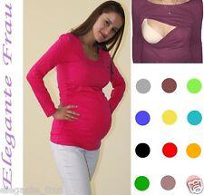3 in1 Stillshirt, Umstands Shirt Gerafft Tunika Longshirt Bluse S,M,L Stillbluse