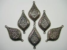 Antiqued Silver plated filigree Drops Earring - Pendant - 6 - 46mm