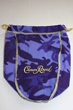 CROWN ROYAL BAG PURPLE CAMO CAMOUFLAGE DRAW STRING FREE FAST SHIP SMOKE FREE!