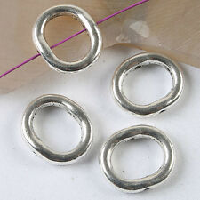 12pcs dark silver tone Oval spacer beads 15x13mm  h3577