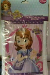 25 pcs Princess Sofia the 1st First Birthday Party Favors Treat Candy Bags loot