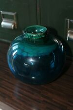 More details for vintage isle of wight/mdina art glass globe aurene vase - michael harris era