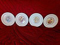 Lot de 4 anciennes assiettes murales en porcelaine-femmes-4 saisons -D19