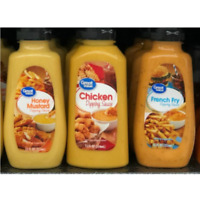3 Pack New Great Value Variety Party Dipping Sauces 12 oz Each