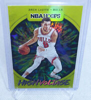 2019-20 Panini NBA Hoops Basketball Zach Lavine High Voltage Card #21 BULLS