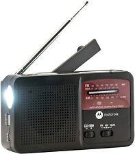 Motorola Atmos Portable Hand-Crank Solar Emergency Weather Radio